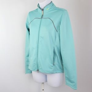 Nike FIT DRY full zip jacket turquoise blue gray
